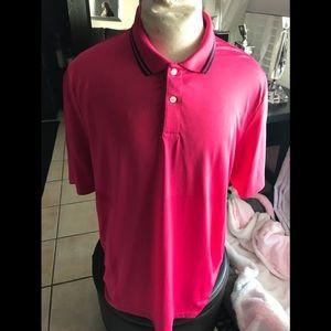 Ralph Lauren RLX red short sleeve shirt Sz XL golf